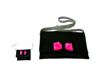BLACK AND PINK BAG