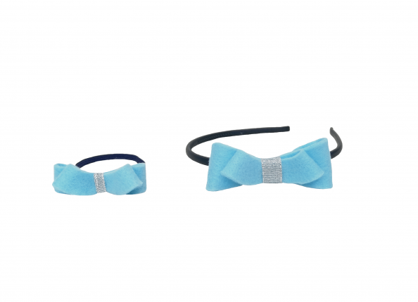HAIR ACCESSORIES WITH BLUE BOW