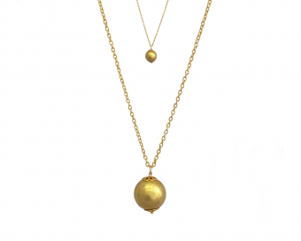 JEWELLERY WITH PENDANT - GOLDEN BALL