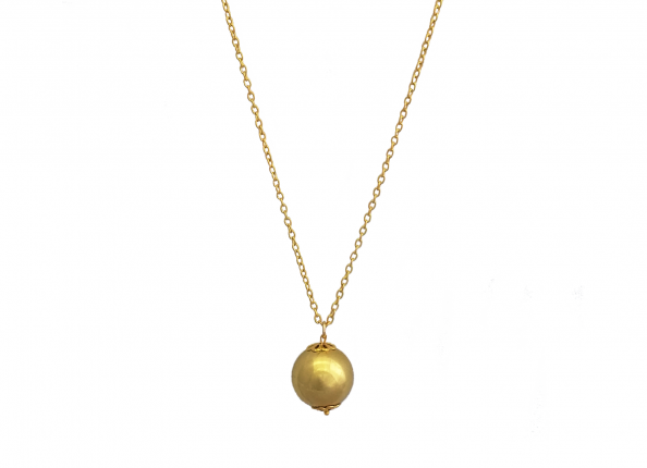 JEWELLERY WITH PENDANT FOR MOTHER - GOLDEN BALL