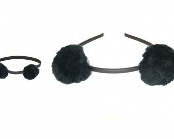 HAIR ACCESSORIES -  TEDDY BEAR - BLACK