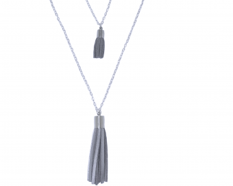 JEWELLERY WITH PENDANT - SILVER