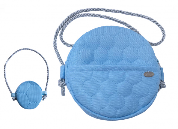 BLUE QUILTED BAG
