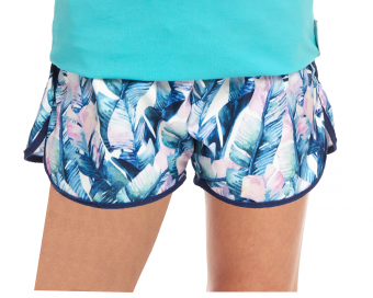TROPICAL LEAVES PATTERN SHORTS